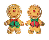 καθορισμένο διάνυσμα απεικόνισης μελοψωμάτων μπισκότων Χριστουγέννων Στοκ Εικόνα