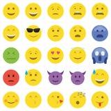 καθορισμένο διάνυσμα απεικόνισης emoticons χρωμάτων εύκολο editable Στοκ φωτογραφία με δικαίωμα ελεύθερης χρήσης