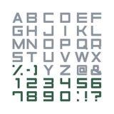 Καθορισμένο διάνυσμα αλφάβητου Στοκ εικόνες με δικαίωμα ελεύθερης χρήσης