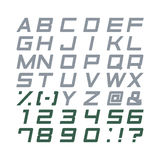 Καθορισμένο διάνυσμα αλφάβητου Στοκ εικόνα με δικαίωμα ελεύθερης χρήσης