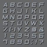Καθορισμένο διάνυσμα αλφάβητου Στοκ Εικόνα