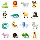 καθορισμένο διάνυσμα ζουγκλών απεικόνισης ζώων Στοκ Εικόνα