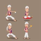 Καθορισμένο διάνυσμα κινούμενων σχεδίων χαρακτήρα Aladdin περσικό Στοκ Φωτογραφία