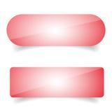 Καθορισμένο διάνυσμα κουμπιών Epmty Στοκ Εικόνα