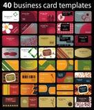 καθορισμένο διάνυσμα μορφής επαγγελματικών καρτών editable Στοκ Φωτογραφίες
