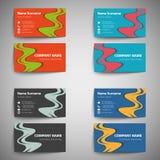 καθορισμένο διάνυσμα μορφής επαγγελματικών καρτών editable Στοκ Εικόνα