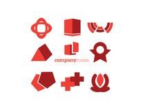 καθορισμένο διάνυσμα λογότυπων απεικόνισης στοιχείων Στοκ φωτογραφία με δικαίωμα ελεύθερης χρήσης