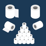 Καθορισμένο διάνυσμα ρόλων χαρτιού τουαλέτας ελεύθερη απεικόνιση δικαιώματος