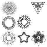 Καθορισμένο διάνυσμα στοιχείων γεωμετρίας που απομονώνεται στο υπόβαθρο Στοκ Φωτογραφίες