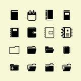 καθορισμένο διάνυσμα χαρτικών γραφείων απεικόνισης εικονιδίων Στοκ εικόνες με δικαίωμα ελεύθερης χρήσης