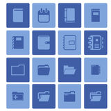 καθορισμένο διάνυσμα χαρτικών γραφείων απεικόνισης εικονιδίων Στοκ εικόνα με δικαίωμα ελεύθερης χρήσης