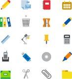 καθορισμένο διάνυσμα χαρτικών γραφείων απεικόνισης εικονιδίων Στοκ φωτογραφία με δικαίωμα ελεύθερης χρήσης
