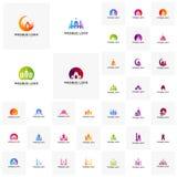 Καθορισμένο ισλαμικό διάνυσμα σχεδίου λογότυπων Πρότυπο λογότυπων μουσουλμανικών τεμενών Μουσουλμάνοι μαθαίνουν τα πρότυπα λογότυ διανυσματική απεικόνιση