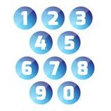 Καθορισμένο κουμπί αριθμού Στοκ φωτογραφία με δικαίωμα ελεύθερης χρήσης