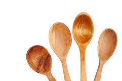καθορισμένο κουτάλι ξύλ&iot Στοκ φωτογραφία με δικαίωμα ελεύθερης χρήσης