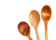 καθορισμένο κουτάλι ξύλ&iot Στοκ εικόνα με δικαίωμα ελεύθερης χρήσης