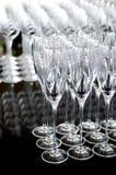 καθορισμένο κρασί γυαλιού Στοκ εικόνα με δικαίωμα ελεύθερης χρήσης