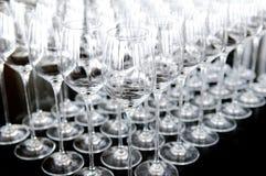 καθορισμένο κρασί γυαλιού Στοκ Φωτογραφία