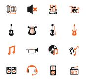 καθορισμένο λευκό μουσικής ανασκόπησης απομονωμένο εικονίδιο διανυσματική απεικόνιση