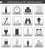 καθορισμένο λευκό 05 κουμπιών Στοκ εικόνες με δικαίωμα ελεύθερης χρήσης