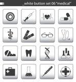 καθορισμένο λευκό 06 κουμπιών Στοκ εικόνα με δικαίωμα ελεύθερης χρήσης