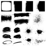 Καθορισμένο μαύρο στοιχείο σχεδίου Grunge Στοκ Φωτογραφία