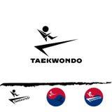 Καθορισμένο λογότυπο taekwondo Στοκ Φωτογραφίες