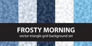 Καθορισμένο παγωμένο πρωί σχεδίων τριγώνων Στοκ Φωτογραφίες