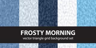 Καθορισμένο παγωμένο πρωί σχεδίων τριγώνων Στοκ Φωτογραφία