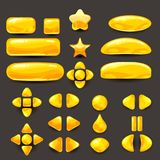 Καθορισμένο παιχνίδι ui Πλήρεις κίτρινες επιλογές του γραφικού ενδιάμεσου με τον χρήστη GUI για να χτίσει τα 2$α παιχνίδια περιστ Στοκ Φωτογραφία