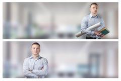 Καθορισμένο πορτρέτο του νέου επιχειρηματία Στοκ φωτογραφίες με δικαίωμα ελεύθερης χρήσης
