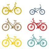 Καθορισμένο ποδήλατο βουνών Στοκ Εικόνες