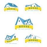 Καθορισμένο πρότυπο σχεδίου λογότυπων σπιτιών Στοκ φωτογραφία με δικαίωμα ελεύθερης χρήσης