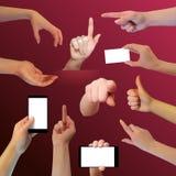 Καθορισμένο ρεαλιστικό διανυσματικό χέρι στο σκοτεινό υπόβαθρο, διανυσματικό illustratio Στοκ φωτογραφία με δικαίωμα ελεύθερης χρήσης
