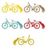 Καθορισμένο ρυμουλκό ποδηλάτων Στοκ Εικόνα