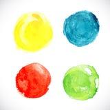 Καθορισμένο στοιχείο κύκλων watercolor για το σχέδιό σας. Το διανυσματικό /EPS 10 Στοκ φωτογραφία με δικαίωμα ελεύθερης χρήσης