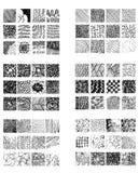 Καθορισμένο συρμένο χέρι ριγωτό σχέδιο μαύρο λευκό Συρμένα στοιχεία κτυπήματα σχεδίου Στοκ Εικόνες