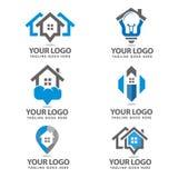 Καθορισμένο σχέδιο εγχώριων λογότυπων Στοκ Φωτογραφία