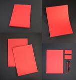 Καθορισμένο σχέδιο χαρτικών Πρότυπο χαρτικών διάνυσμα προτύπων επιχειρησιακής εταιρικό ταυτότητας έργων τέχνης Στοκ Φωτογραφία