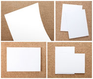 Καθορισμένο σχέδιο χαρτικών Πρότυπο χαρτικών διάνυσμα προτύπων επιχειρησιακής εταιρικό ταυτότητας έργων τέχνης Στοκ Φωτογραφίες