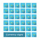 Καθορισμένο σύμβολο νομίσματος εικονιδίων Στοκ φωτογραφία με δικαίωμα ελεύθερης χρήσης