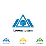 Καθορισμένο τρίγωνο λογότυπων Στοκ εικόνες με δικαίωμα ελεύθερης χρήσης