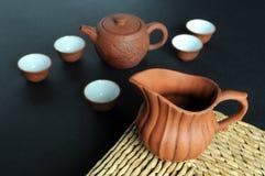 καθορισμένο τσάι δοχείων  Στοκ φωτογραφία με δικαίωμα ελεύθερης χρήσης