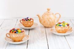 καθορισμένο τσάι Ευώδες και γλυκό τσάι Αρχικό τσάι Στοκ εικόνες με δικαίωμα ελεύθερης χρήσης