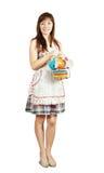καθορισμένο τσάι κοριτσ&iot Στοκ εικόνες με δικαίωμα ελεύθερης χρήσης