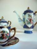 καθορισμένο τσάι πορσελά στοκ φωτογραφία