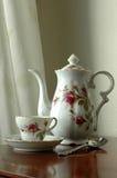 καθορισμένο τσάι grandma s στοκ εικόνα