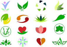 Καθορισμένο υπόβαθρο απεικόνισης λογότυπων εικονιδίων Wellness Στοκ εικόνα με δικαίωμα ελεύθερης χρήσης