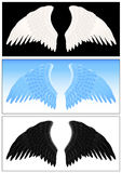 καθορισμένο φτερό αγγέλ&omicro Στοκ εικόνες με δικαίωμα ελεύθερης χρήσης