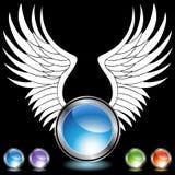 καθορισμένο φτερό χρωμίο&upsil ελεύθερη απεικόνιση δικαιώματος